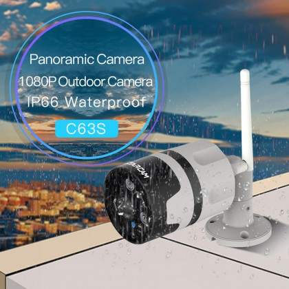 C63S WIFI 1080P Outdoor 180panoramic Security Camera High-performance low-power SoC chip IP66 Waterproof and Dustproof