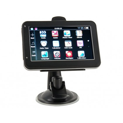 """Car Electronics 4.3"""" Touch Screen GPS Navigator and Multimedia System with eBook Reader+ Audio+ Video+ Games+ Photos(Black)"""