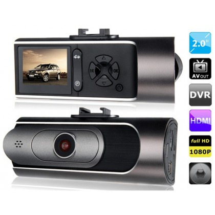 """AT600 2.0"""" LED Screen Vehicle Black Box DVR Recorder with Parking Monitor, HDMI Output, TV-Out & G-Sensor"""