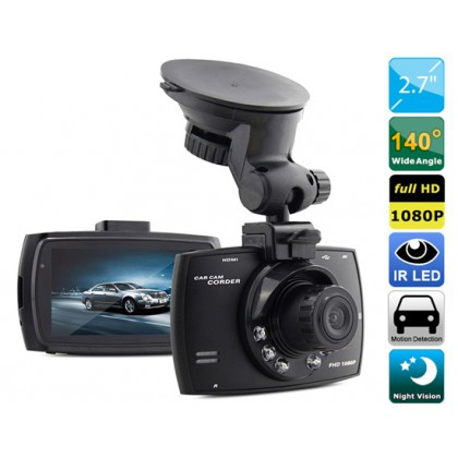 1080P DVR Camera Video Recorder with IR Night Vision, Motion Detection,4X Digital Zoom & G-sensor