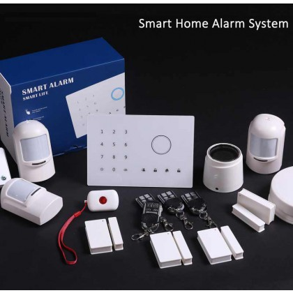 Variety Sensors Touch Keypad GSM Wireless Home Burglar Security Alarm System (Write)