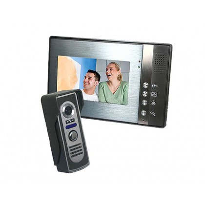 SY802M Home Security Video Door Phone Intercom with Outdoor CMOS Camera and 7inch TFT LCD Monitor-silver color