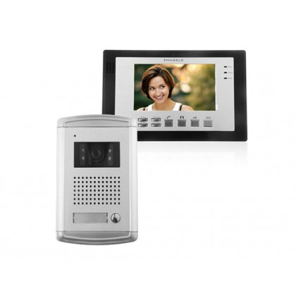 ZDL-226+ZDL-3700B Wired Night Visual Color Video Door Phone with 7inch TFT LCD Monitor