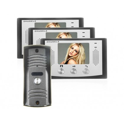 ZDL-22N+ZDL-035C Wired Night Visual Colour Video Door Phone with 3.5inch TFT LCD Access Control System