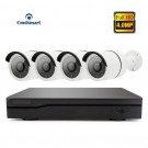 H.265 4Channel POE NVR Kits 4pcs 4.0MP IP Camera CCTV Security Video Surveillance System