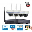4CH 720P HD Wireless CCTV System Dome Waterproof IP Camera IR-CUT WIFI NVR CCTV WIFI Security Video Surveillance Kits