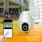 1080P WIFI PTZ Camera Auto Tracking Waterproof CCTV Home Security IP Camera 4.0X Digital Zoom Wireless IP Camera