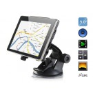 """AW-504 5"""" TFT Touch Screen WinCE6 GPS Navigator with Russian Map, FM, 4G TF Card (Black)"""