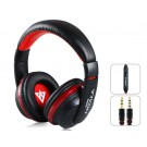MQ55  3.5mm Plug On-ear Stereo Headphones with Microphone & 1.2 m Cable (Black)