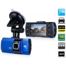 "AT550 2.7"" TFT Screen Novatek Vehicle Black Box DVR with HDMI, G-sensor, TV-Out (Blue & Black)"