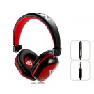 VYKON MQ22 Superb 3.5 mm On-ear Headphones with Microphone for Apple Devices (Red)