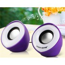 Popu•Pine M1 Horn Design 3.5mm Plug Mini Speaker with USB Port & Volume Control (Purple)