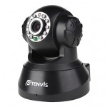 "1/4"" CMOS Sensor MJPEG Series PT Indoor IP Camera with Built-in Microphone and Speaker (Black)"