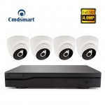 H.265 4Channel POE NVR Kits 4pcs 4.0MP IP Camera Dome CCTV Security Video Surveillance System