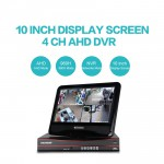 AHD DVR Recorder 4CH 3IN1 APP Remote Control With 10 Inch LCD Display Screen