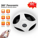 Mini Wifi Camera 360 Degree Panoramic Camera HD Night Vision Support SD Card  Indoor Switch Remote Camera
