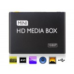 Mini 1080P HD Media Box with SD/SDHC Card Reader (Black)