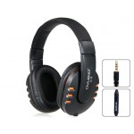 X4 3.5 mm On-ear Headphones with Microphone & Volume Control (Orange)