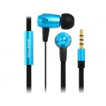 OVLENG iP810 3.5mm Plug In-ear Stereo Wired Earphones with Microphone & 1.2m Flat Cable (Blue)