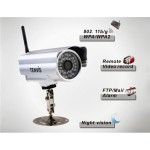 1/4 Inch CMOS Sensor Outdoor Waterproof Wireless Network Camera (Silver)