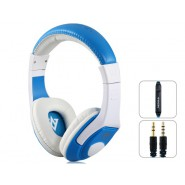 VYKON MQ44 Superb 3.5 mm On-ear Headphones with Microphone & 1.2 m Cable (Blue)